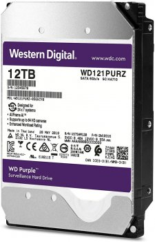 Жорсткий диск Western Digital Purple 12TB (WD121PURZ) 5400rpm, 256MB (6460395)