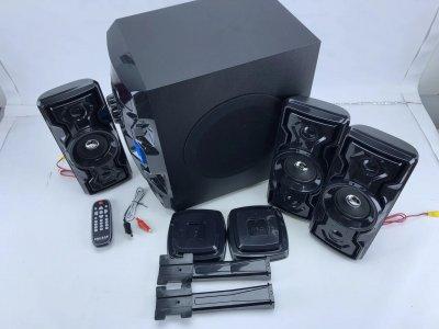 Акустическая система 3.1 Домашний кинотеатр Era Ear E-1933 60W Bluetooth Активный сабвуфер и 3 колонки