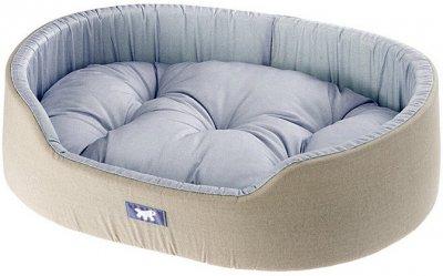 Лежак для собак і кішок Ferplast Dandy C 55 55 55х41х15 см Блакитний з чорним (82942095 — Блакитний)