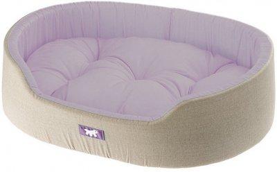 Лежак для собак і кішок Ferplast Dandy C 80 80х55х20 см Бузковий з чорним (82944095 — Бузковий)