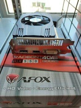 ВИДЕОКАРТА AFOX RADEON RX 550 4GB DDR5 (AFRX550-4096D5H4-V4)