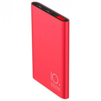 Портативна батарея 10000 mAh Solove A9s Portable Metallic Power Bank Red (342_19)
