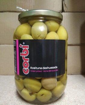 Оливки зеленые без косточки Corbi Aceitunas Deshuesada 835 г