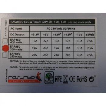 Блок питания RASURBO ( EAP550 ) на 550W ATX Б/У