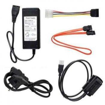 Переходник Kronos USB SATA IDE 2.5/3.5 c блоком питания (gr_000639)