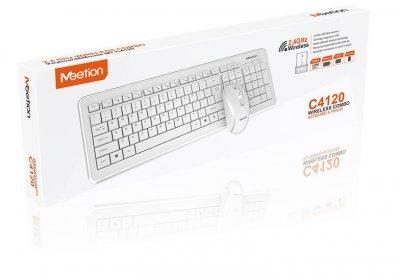 Комплект беспроводная клавиатура и мышь MeeTion MT-C4120 Белый (gr_016029)