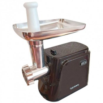 Электрическая Мясорубка Rainberg RG 677 2600Вт реверс, Для колбасных изделий, Кеббе Электромясорубка Черная + кухонные весы