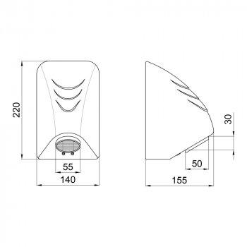 Сушилка для рук Lidz (WHI)-130.01.94 600 Вт