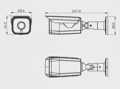 IP POE Камера G.Craftsman Сенсор 5Мп Sony IMX335, Объектив 3.6мм f1.2 G5S