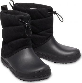 Сапоги Crocs Women's Crocband Puff Boot 205858-001 Черные