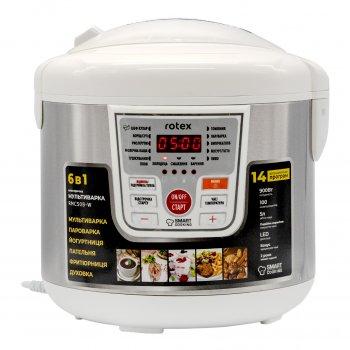 Мультиварка пароварка Rotex 5 литров 900 Вт. Лучшая йогуртница домашняя фритюрница мощная помощница на кухне рисоварка RMC508WW