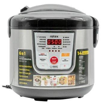Мультиварка пароварка Rotex 5 литров 900 Вт. Лучшая йогуртница домашняя фритюрница мощная помощница на кухне рисоварка RMC507BB