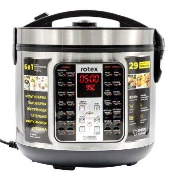 Мультиварка пароварка Rotex 5 литров 900 Вт. Лучшая йогуртница домашняя фритюрница мощная помощница на кухне рисоварка RMC401BB