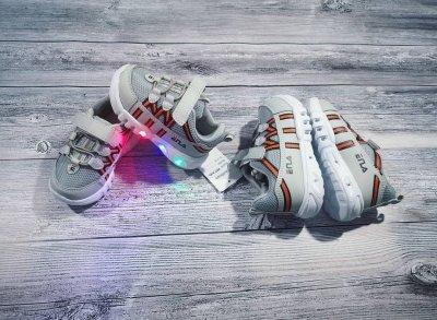 Кроссовки BBT светящиеся Fila серые