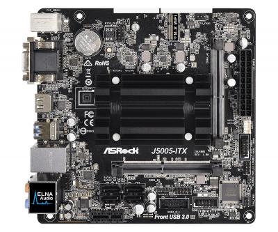 Материнська плата ASRock J5005-ITX (Intel Pentium J5005, SoC, PCI-Ex1)