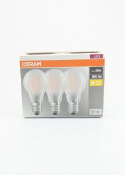 Лампочка E27, 3 шт. OSRAM металік-прозорий PM1-10941