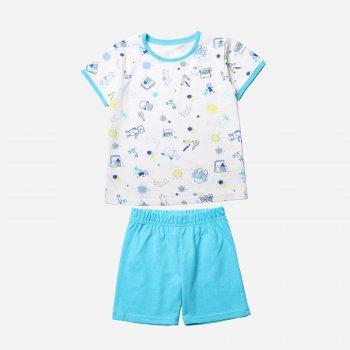 Пижама Фламинго 222-130 Белый / Голубой