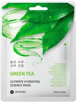 Ежедневная увлажняющая маска с экстрактом зеленого чая Jkosmec Green Tea Ultimate Hydrating Essence Mask 28 мл (8809540516765)