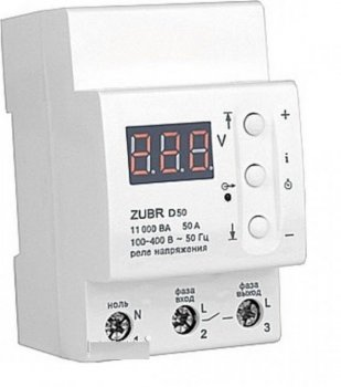 Реле защиты от перенапряжений ZUBR D50 на 50 ампер