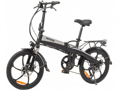 Электровелосипед Maxxter Ruffer 20'' Black-Silver