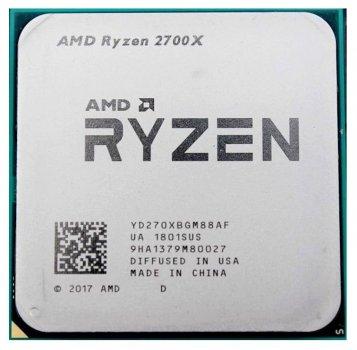 Процесор AMD Ryzen 7 2700X 3.7-4.3 GHz (YD270XBGM88AF) AM4 TRAY