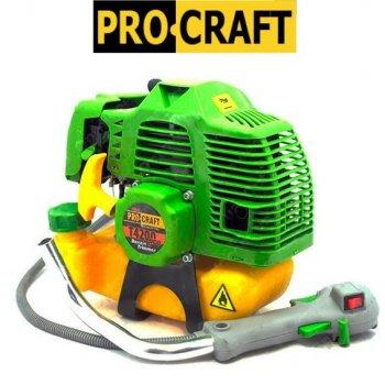 Бензокоса ProCraft T4200 PRO (3 ножа (40Т победит, 3Т, 8Т) и 1 катушка-леска) штанга 28 см