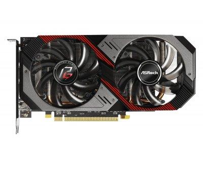 Видеокарта ASRock, Radeon RX 5500 XT, Phantom Gaming D OC, 8Gb GDDR6, 128-bit, HDMI/3xDP, 1845/14000MHz, 8-pin (RX5500XT PGD 8GO)