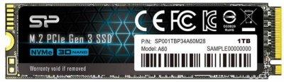 Silicon Power P34A60 1TB NVMe M.2 2280 PCIe 3.0 x4 3D NAND TLC (SP001TBP34A60M28)