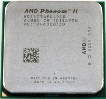 Процессор AMD Phenom II X4 840T 2.9GHz AM2+/AM3 95W б/у