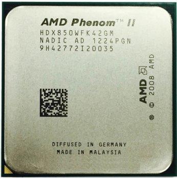 Процессор AMD Phenom II X4 850 3.3GHz AM2+/AM3 95W б/у