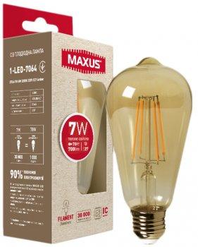 Лампа світлодіодна MAXUS ST64 FM 7 Вт 2200 K 220 В E27 Amber (1-LED-7064)