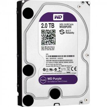 Жорсткий диск 3.5 Western Digital Purple 2TB 64MB 5400rpm SATA III (WD20PURZ)