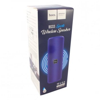 Акустическая портативная колонка Hoco BS33 влагозащищенная система с 360° звучанием Bluetooth Voice Sports Синяя