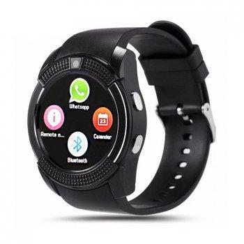 Смарт-годинник Smart Watch V8 сенсорні Black (017233)