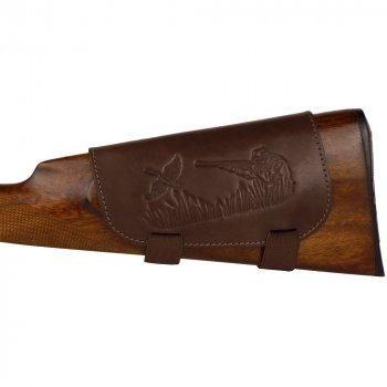 Шкіряний Патронташ на Приклад Bronzedog 6 патронів калібр 12/16 Коричневий (5080/2)