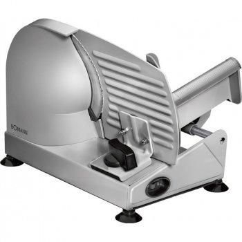 Ломтерезка слайсер Bomann MA 451 CB Металлик с наклоном рабочего стола + прорезиненные ножки 150 Вт