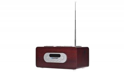 Радиоприемник Blaupunkt PP5BR Коричневый с дисплеем и пультом ДУ + USB / microSD / AUX-IN