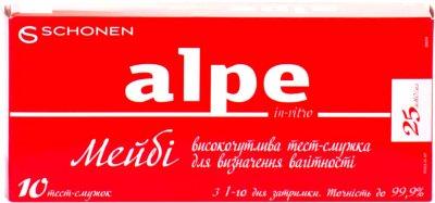 Тест-полоска Alpe MayBe in-vitro для определения беременности 10 шт (000000943)