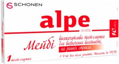 Тест-полоска Alpe MayBe in-vitro для определения беременности на ранних сроках 1 шт (000000917)