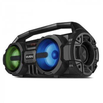 Многофункциональная портативная акустическая система c подсветкой SVEN PS-415 Black