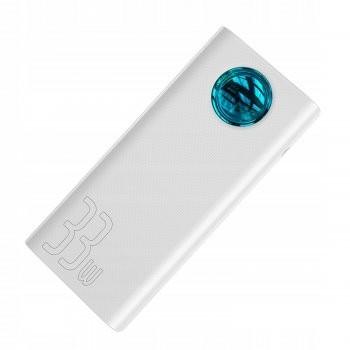 Павербанк Baseus 30000 мАч Power Delivery/Quick Charge 3.0 65W White