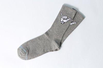 Мужские носки LOMM Жесты Алло серые