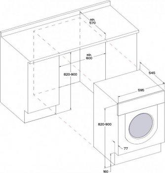 Вбудована пральна машина WHIRLPOOL BI WMWG 71484E EU