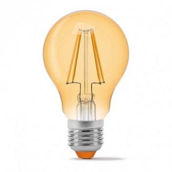 LED лампа філамент VIDEX A60F 7W 4100K E27 220V бронза
