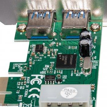 Плата расширения Frime PCI-E to USB3.0 (2 порта) NEC720200F1 (ECF-PCIEtoUSB003.LP)