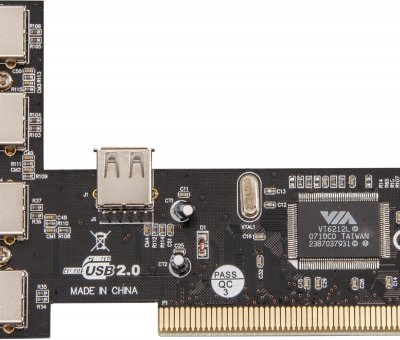 Плата расширения Frime PCI to USB2.0 (4+1 порты) VT6212 (ECF-PCItoUSB001)