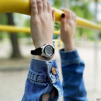 Женские электронные часы Casio Black наручные спортивные на полимеровом ремешке + коробка (1006-1827)