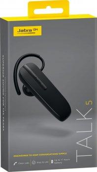 Bluetooth гарнитура Jabra Talk 5 моно гарнитура Multipoint Black (141023)