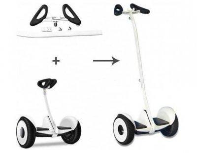 """Гироскутер Сигвей MiniRobot Mini 10.5"""" с рулем для рук Белый"""