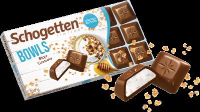 Шоколад молочный Schogetten с йогуртом и гранолой 100г